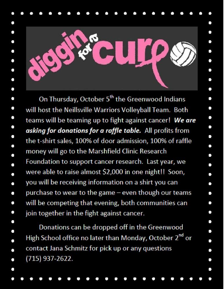 Volleyball Diggin for a Cure - Oct. 5