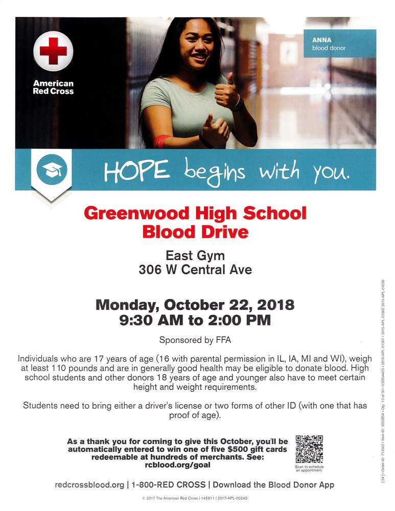 Blood Drive October 22