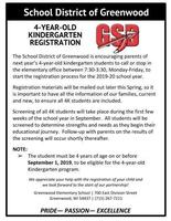 Four-Year-Old Kindergarten Registration