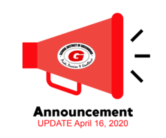 Closure Update April 16, 2020